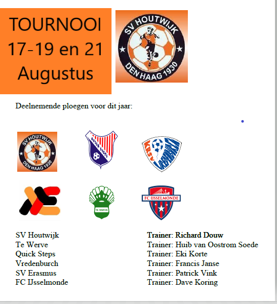 Thuis Tournooi SV Houtwijk